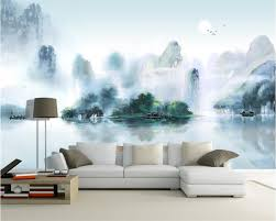 compare prices on chinese silk wallpaper online shopping buy low beibehang custom wall wallpaper home decoration murals new chinese ink jiangnan landscape painting tv wall mural