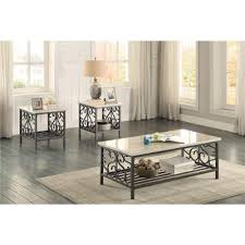 Marble Top  Piece Coffee Table Set Fairhope RC Willey - Living room coffee table sets