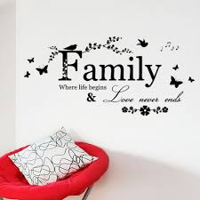 online get cheap wall decals family aliexpress com alibaba group hot sale home wall decals family where life begins quote wall stickers home decorations living room