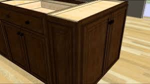Kitchen Cabinets And Islands by Design An Island With Wall Cabinet Ends Youtube