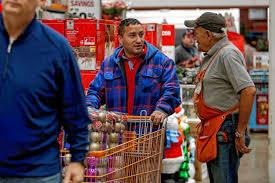 home depot black friday shopper local bargain hunters kick off holiday shopping on black friday