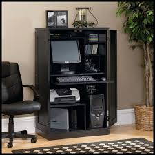 Desk Armoire Sauder Computer Armoire Ebony Ash Finish 169729 Walmart Canada