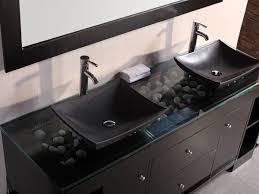 Oasis Double Vessel Sink Vanity Bathgemscom - Black bathroom vanity with vessel sink
