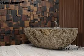 Natural Stone Bathroom Ideas River Stone Bathtub Manufacturer Lux4home Lux4home Com