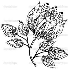 cool detailed flowers drawings