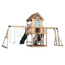 Cedar Playsets Oceanview Wooden Swing Set Playsets Backyard Discovery