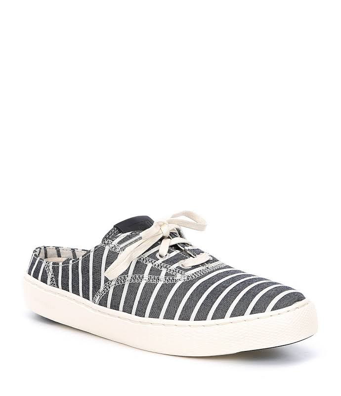 Cole Haan Grand Pro Deck Freeport Stripe / White Low Top Mules 8.5M