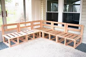 Wood Bench Plans Indoor by Outdoor Sectional Framing Diy Project Deck Tutorials Pinterest