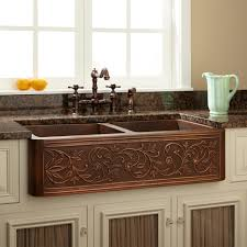 kitchen best hammered copper drop in kitchen sink with brown