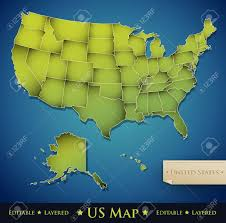 Unite States Map by United States Map With All 50 States Separated Vector Royalty
