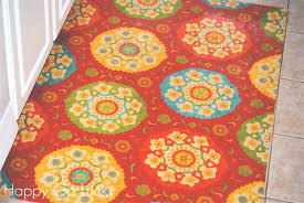 diy kitchen rug made from fabric and vinyl so easy i u0027m so