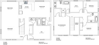 1 Bedroom Log Cabin Floor Plans by 2 Story Cabin Plans Home Design Inspirations
