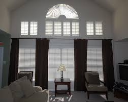 drape ideas tall windows window with a rod placed above the