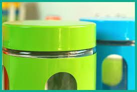 blue green orange glass canisters set of 3 kitchen sugar tea