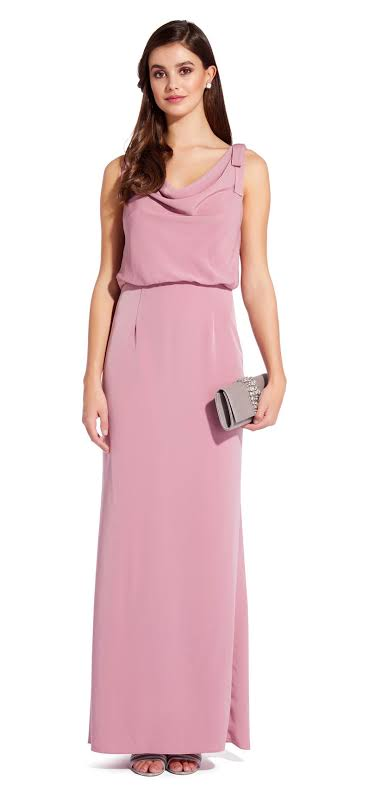 Adrianna Papell Sleeveless Formal Formal Dress Pink 6