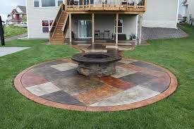 Backyard Cement Patio Ideas by Fire Pit Top 10 Concrete Patio Fire Pit Backyard Garden
