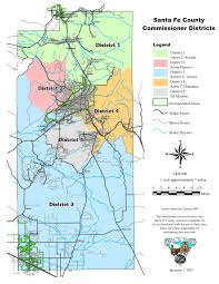 New Mexico County Map Santa Fe County County Commissioners