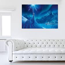 disney frozen blue landscape canvas cartoon animation more disney frozen blue landscape canvas