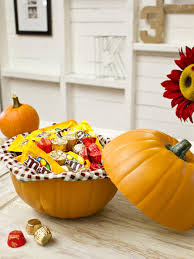 halloween crafts with candy how to make a pumpkin candy dish hgtv
