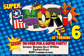 Birthday Invitation Cards For Kids Superhero Birthday Invitations Templates Ideas Invitations Ideas