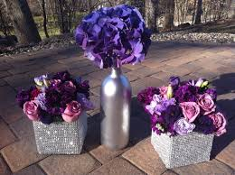 Black Blue And Silver Table Settings Top 25 Best Purple Flower Centerpieces Ideas On Pinterest