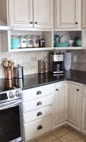 Kitchen Shelf Decorating Ideas Best 25 Farmhouse Kitchen Cabinets Ideas Only On Pinterest Farm