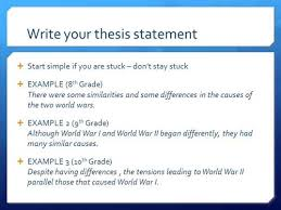 thesis vs topic Topic statement vs thesis