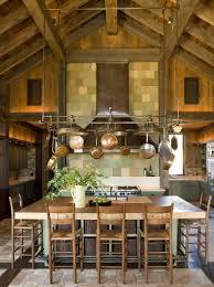 Kitchen Cabinets Mahogany Hanging Pots And Pans On Wall Gray Granite Countertop Laminate