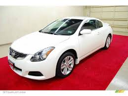 nissan altima coupe in snow 2011 winter frost white nissan altima 2 5 s coupe 48268520 photo