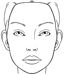 halloween faces template blank face chart sketch coloring page teagan u0027s 7th pinterest