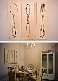 Artwork For Dining Room 3 Piece Wall Art For Kitchen New View Kitchen Utensil Cutout Wall