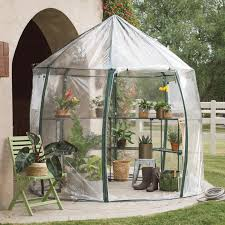 Keyhole Doorway by Coral Coast Round Greenhouse With Shelving Hayneedle