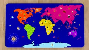 Kids World Map Cartoons For Babies Geography World Map For Kids Learn 6