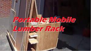 Rolling Wood Storage Rack Plans by Portable Mobile Lumber Rack Youtube
