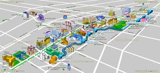 Virginia Tech Map Tourist Map Of Las Vegas Strip Virginia Map