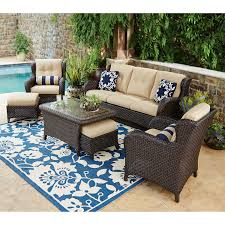 Best Wicker Patio Furniture 7pc Outdoor Patio Garden Wicker Furniture Rattan Sofa Set Modern