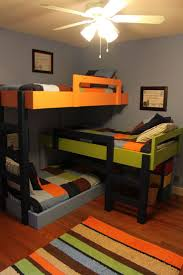 1610 best bunk bed ideas images on pinterest bedroom ideas space saving triple bunkbeds my girls already have triple bunks but it takes up half the room this is an interesting setup