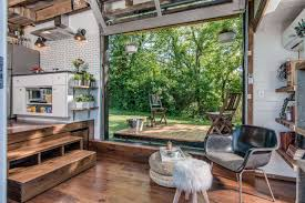 House Beautiful Kitchen Design Inside A Tiny House With A Pop Out Deck Alpha Tiny Home By New