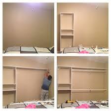 Bedroom Wall Unit Closets Diy Closet Have A Plain Wall Need More Closet Space Build Your