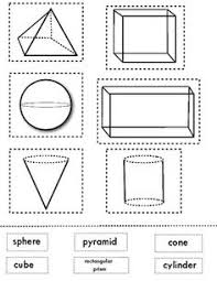 Pinterest     The world     s catalog of ideas Matching  D shapes  This is a great sheet for end of the unit review