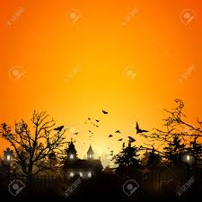 free halloween background images halloween background with old graveyard and church royalty free