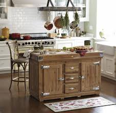 rustic kitchen island on wheels