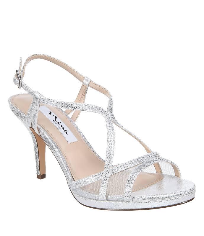 Nina Blossom Heels Silver- Womens