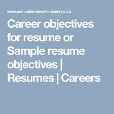 Sample Career Objectives For Resumes by Best 10 Career Objectives For Resume Ideas On Pinterest Career