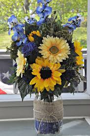 nicole u0026 ryan u0027s centerpiece made from a mason jar filled with