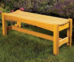 Basic Wood Bench Plans by Free Garden Bench Woodworking Plan