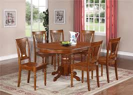 dining room wooden themed dining table and chair with 6 parsons