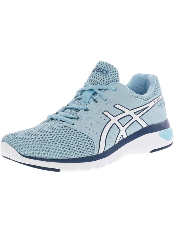 Asics Gel-Moya Porcelain Blue / White Ankle-High Running Shoe 8.5M