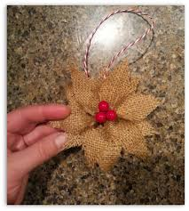 how to make burlap poinsettia christmas ornaments rustic charm