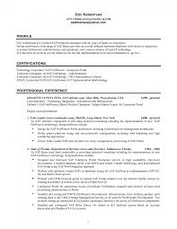 Sap Mm Sample Resumes by Integration Specialist Sample Resume Sample Resume For Daycare Worker